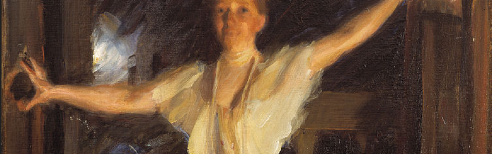 Isabella Stewart Gardner in Venice (detail) by Andres Zorn; Public Domain